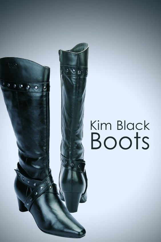Check out our Shoes collection  Kim Black Boots
