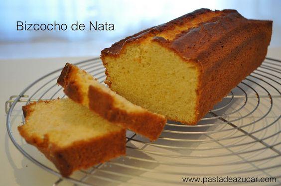 Pasta de Azucar: Exquisito bizcocho de nata... (Me he enamorado de el)