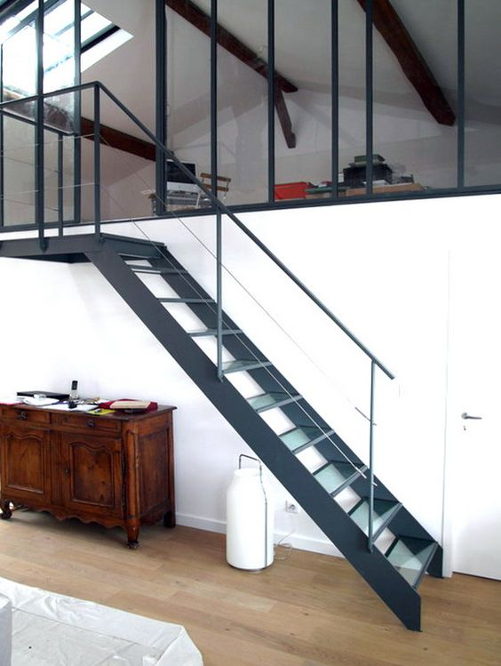 Chambre en mezzanine 1 architecture interior design for Loft a renover region parisienne