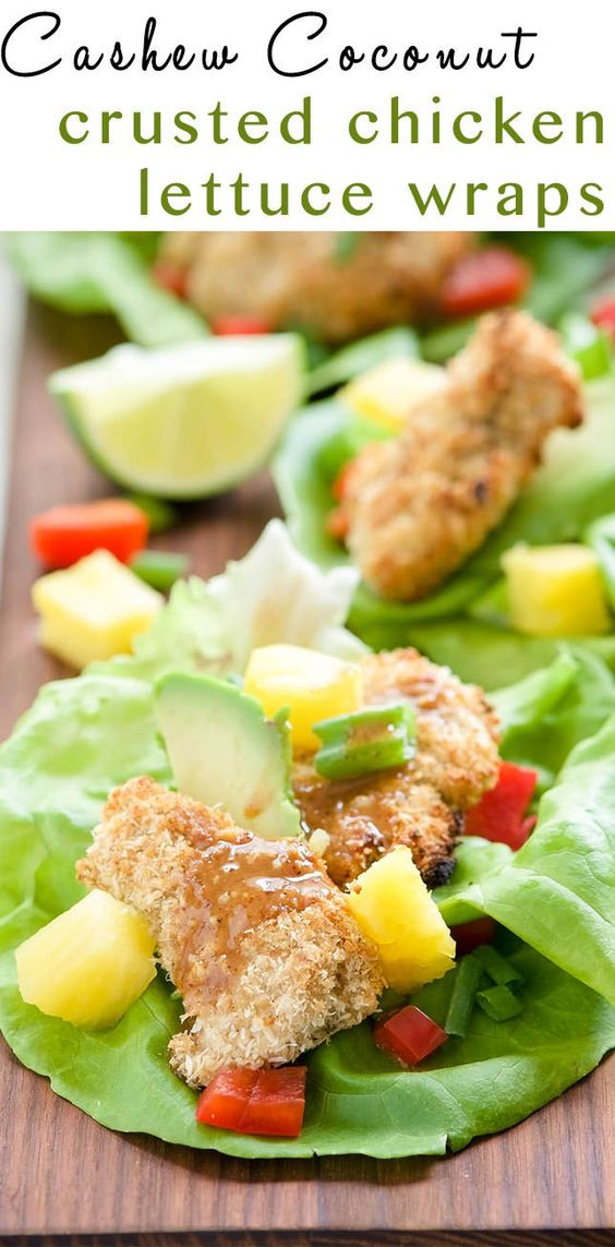 Chicken lettuce wraps, Crusted chicken and Lettuce wraps on Pinterest
