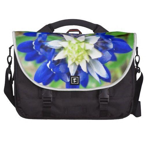 Texas Bluebonnet Top View Laptop Bags #texas #bluebonnet #bag