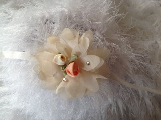 Newborn Baby Headband..Baby Headband..Baby Girl by WooolBaby - what a picture!  Bring baby home in this fantastic headband - sold on Etsy