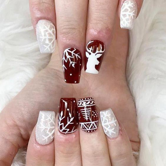 Manicura Para Navidad Uñas Para Navidad Diseño De Uñas