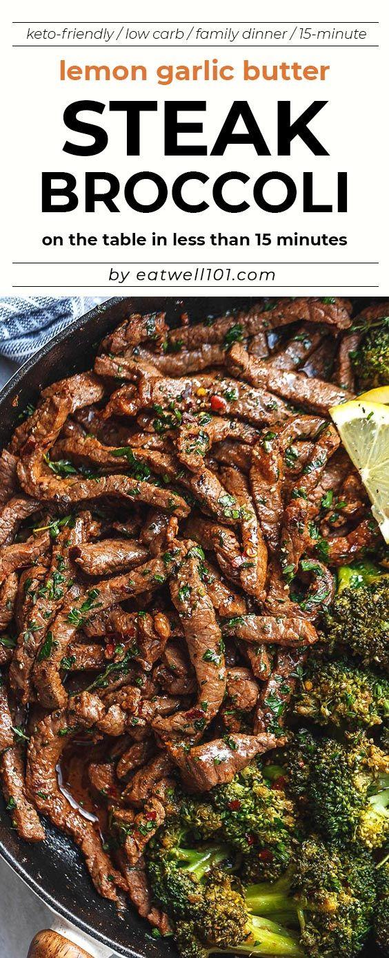 Lemon Garlic Butter Steak and Broccoli Skillet