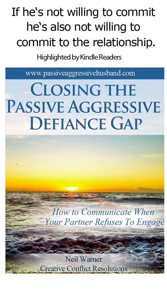 relationship with passive aggressive person