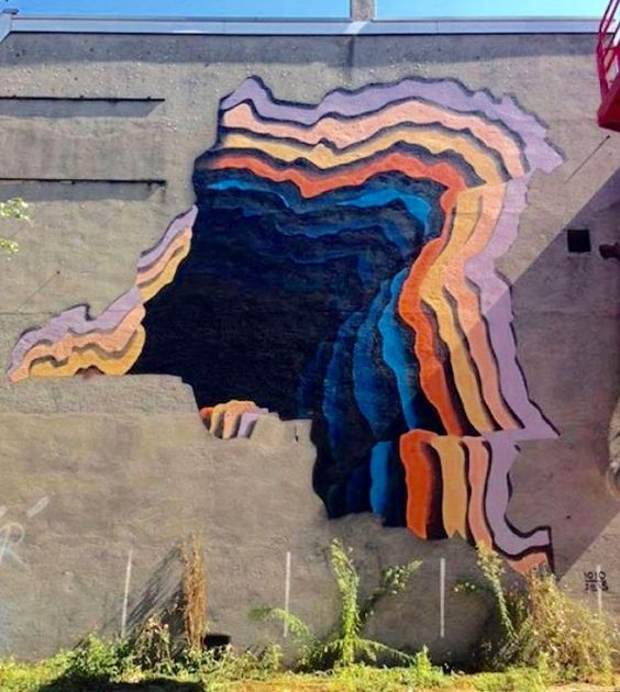 by 1010 in Heerlen, NL--Not sure what this is, but it's beautiful and it looks like urban art: