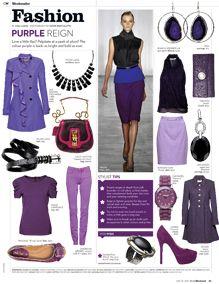 Fashionably Purple!