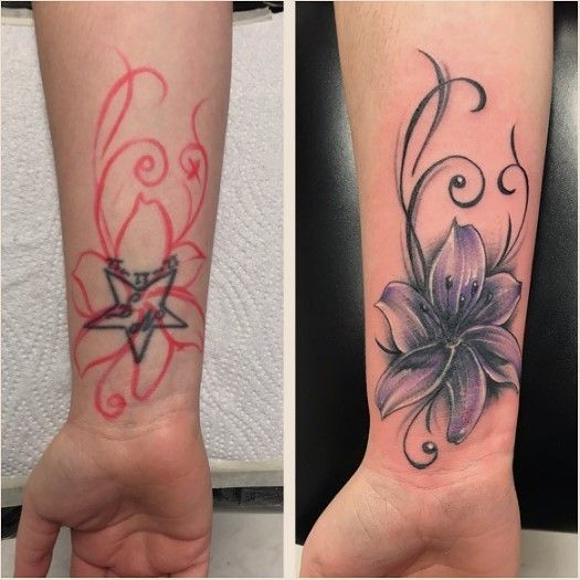 Amazing Cover Up Tattoo Ideas Flower Cover Up Tattoos Cover Up