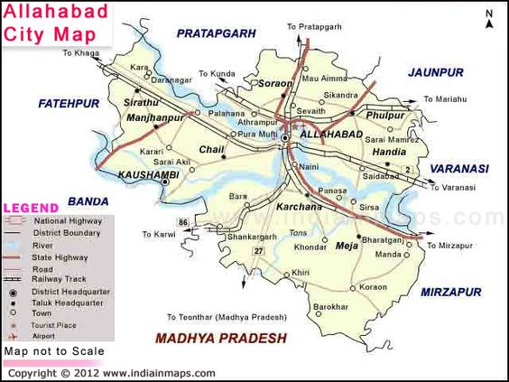 Allahabad City Map City Map In India Pinterest City Maps And - Allahabad map