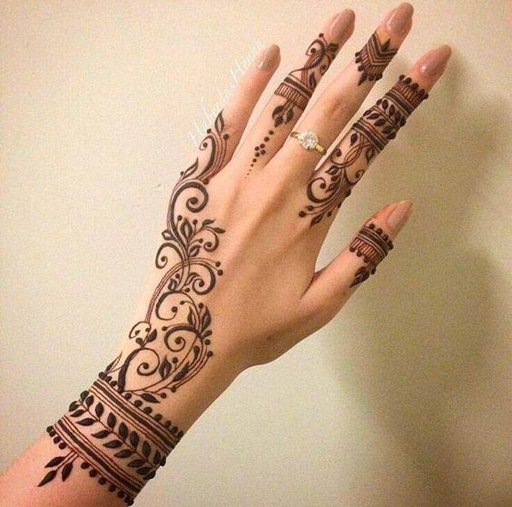 Classic mehndi design for hand and whirst #mehndi #mehndidesign #henna #hennadesign #hennatattoo #hennaart