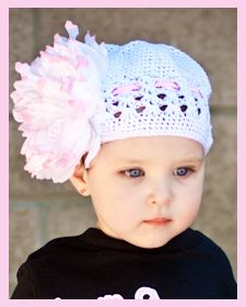 My mom will have to make some of these this winter :)  Christian Clothing | Faith Baby | Savanah Crochet Beanie  FaithBaby.com