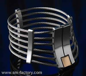 Stainless steel posture collar