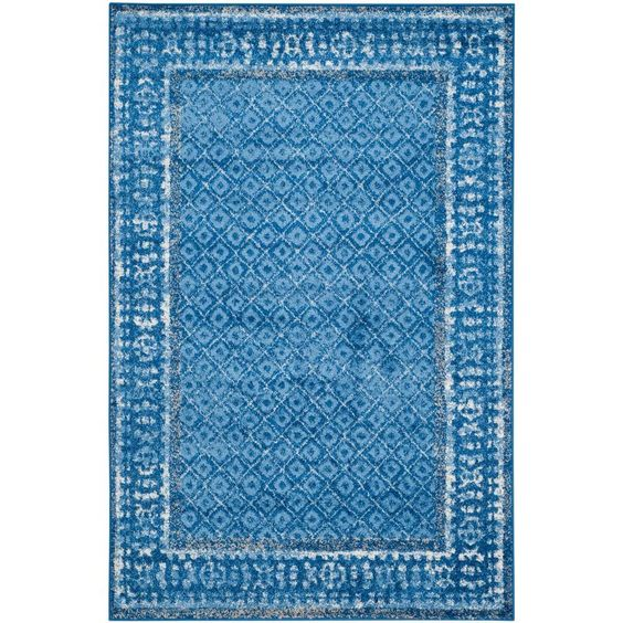 Adirondack Light Blue/Dark Blue 5 ft. 1 in. x 7 ft. 6 in. Area Rug
