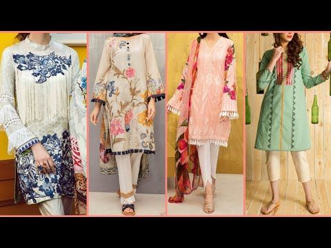 Top New Designs Of Casual Suits Kameez Kurti Stitching Styles And Ideas 2019 Youtube Dress Neck Designs Pakistani Dress Design Casual Suit