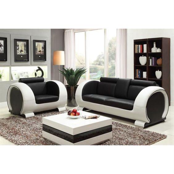 869.99 € ❤ Les #Canapes pas chers - Ensemble #canapé 3 places + #fauteuil en croûte de cuir - 206x88x80 cm + 116x88x80 cm - Noir et blanc ➡ https://ad.zanox.com/ppc/?28290640C84663587&ulp=[[http://www.cdiscount.com/maison/canape-canapes/austin-ensemble-canape-3-places-fauteuil-en-crou/f-11701-h588blancnoir.html?refer=zanoxpb&cid=affil&cm_mmc=zanoxpb-_-userid]]