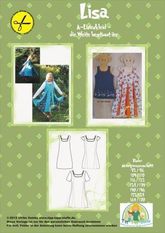 Kindermode - Lisa - Ein tolles Drehkleid - ein Designerstück von Tipp-Tapp-Stoffe bei DaWanda