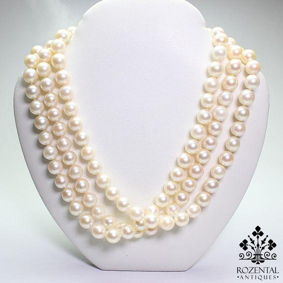 Antique Art Deco Culture Pearl Necklace