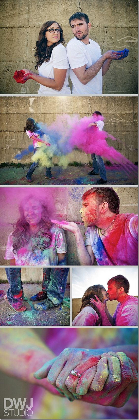 Engagement Pictures- How fun!! I kind of love this idea!!