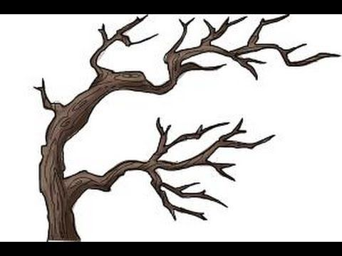 1 How To Draw Tree Branches Youtube Family Tree Drawing Tree Drawing Tree Sketches
