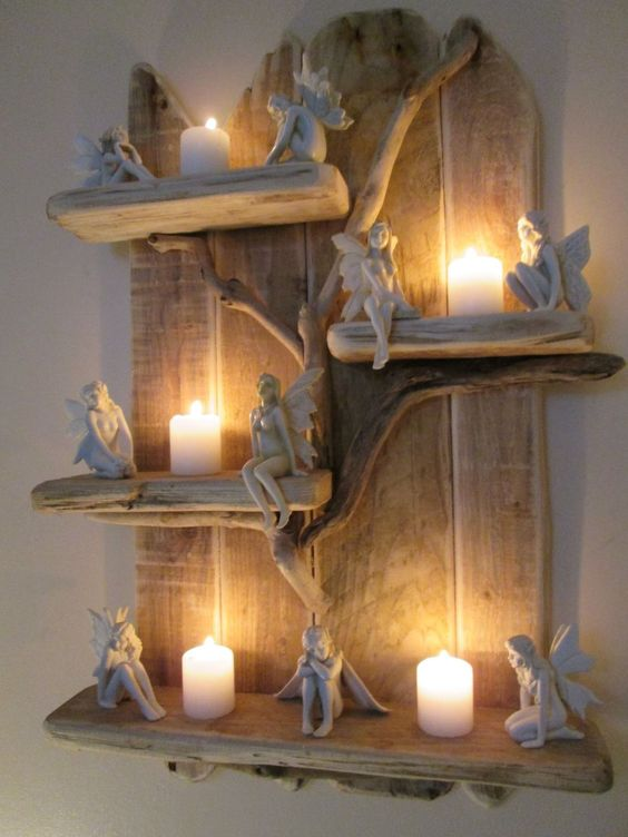 Charming Unique Driftwood Shelves Solid Rustic Shabby Chic Nautical Artwork in Home, Furniture & DIY, Furniture, Bookcases, Shelving & Storage   eBay!