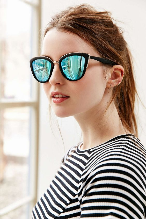 oakley girl sunglasses cheap  perfect sunglasses with a slight cat eye from aussie eye wear fave, quay. plastic coated metal frames feature curved arms for comfort.
