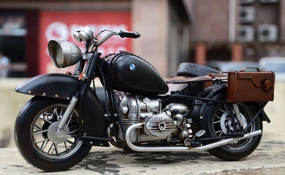 1938年二战宝马三轮摩托车模型 手工侉子铁皮车模型 军事模型摆设-淘宝网
