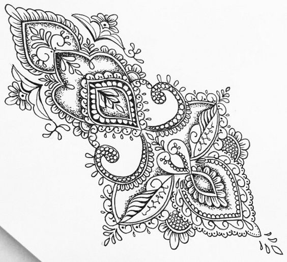 Henna Design Line Art : Pinterest the world s catalog of ideas
