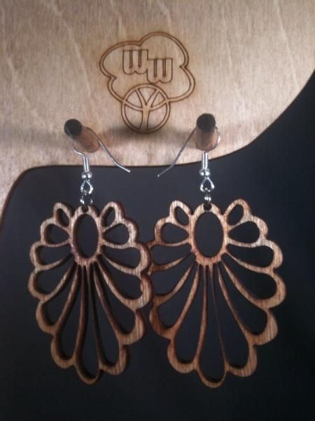 Abstract Flower Earrings