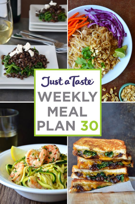Weekly Meal Plan 30 and Shopping List justataste.com #mealplan #recipes