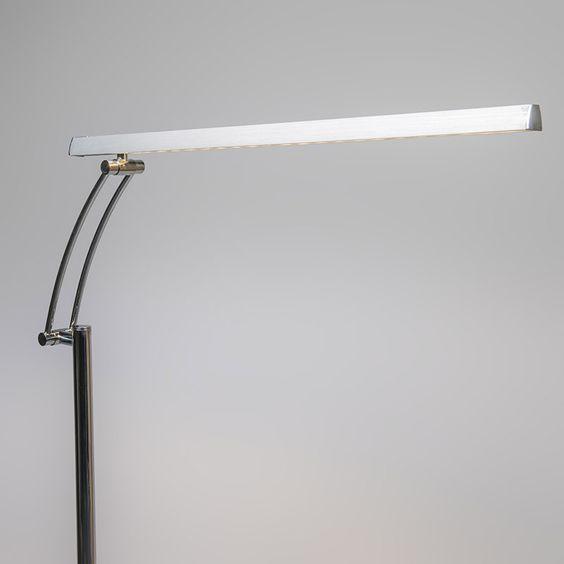 Stehleuchte Berdien Delux chrom:Minimalistische Stehhleuchte aus stilvollem Chrom. Die Leuchte ist sehr funktional dank des verstellbaren Arms mit Scharnier-Konstruktion. #Beleuchtung #licht #lampe #Briloner
