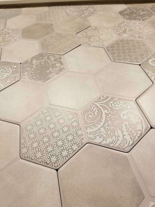 Hexagon Tile Flooring Emser Virtue Gray Tile Floor Hexagon Tiles Flooring Bathroom decor tiles edgewater wa