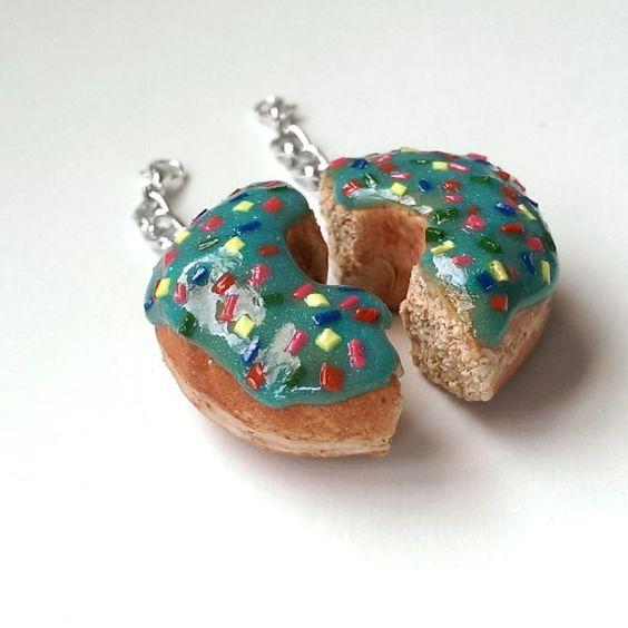 Donut Charms BFF Charms Food Keychain Food by MalynsHandmade