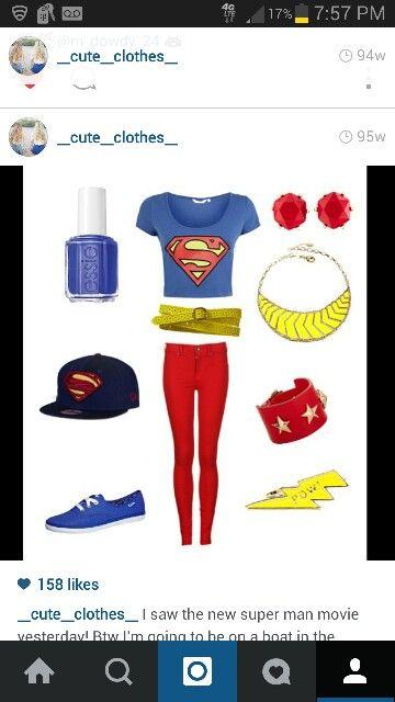Cute superman clothes