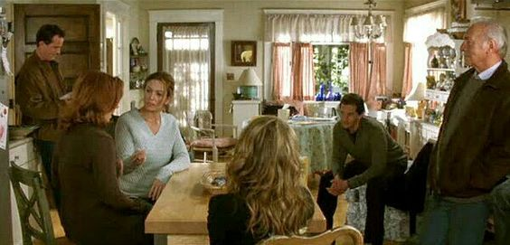 Love this kitchen from the movie Must Love Dogs. Great French door!