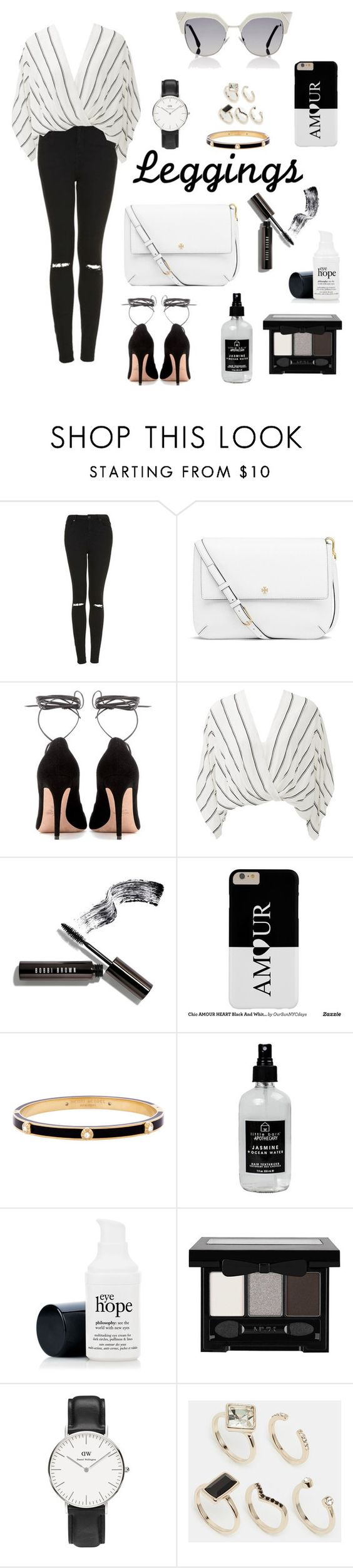 """""""#18"""" by melissious on Polyvore featuring Topshop, Tory Burch, Valentino, Free People, Bobbi Brown Cosmetics, Henri Bendel, Little Barn Apothecary, NYX, Daniel Wellington and Oasis"""