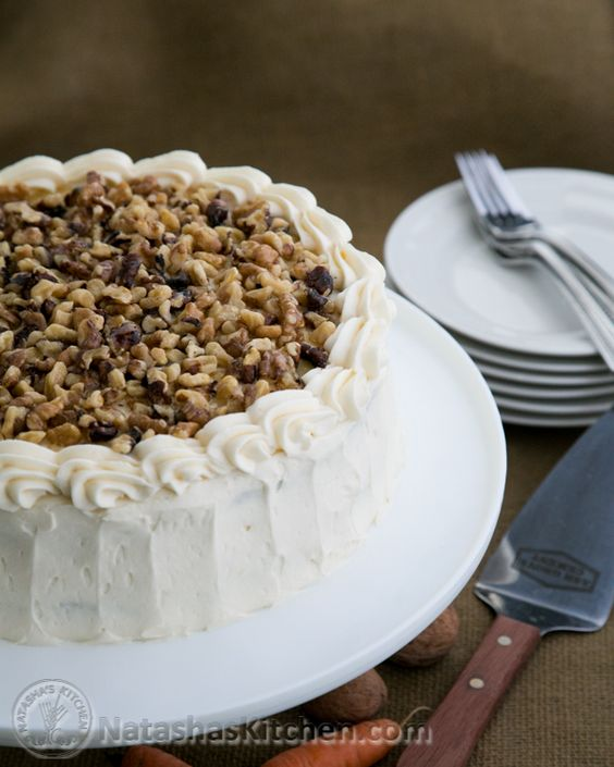 Healthier Carrot Cake made with Honey and Applesauce. Skip the confectioner's icing for an actual healthier treat. You can make a nice cream cheese icing - frosting without all that sugar.
