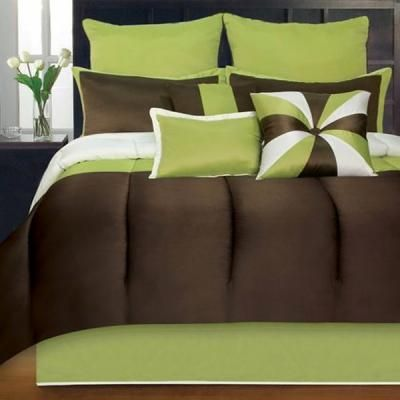 Color scheme for master bedroom and bath bedroom ideas the pillow and bath - Brown and green bedroom ...