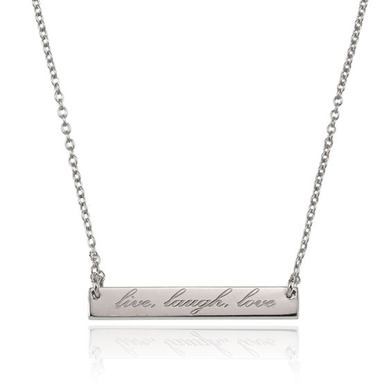 SAMANTHA WILLS - LIVE LAUGH LOVE NECKLACE - SILVER