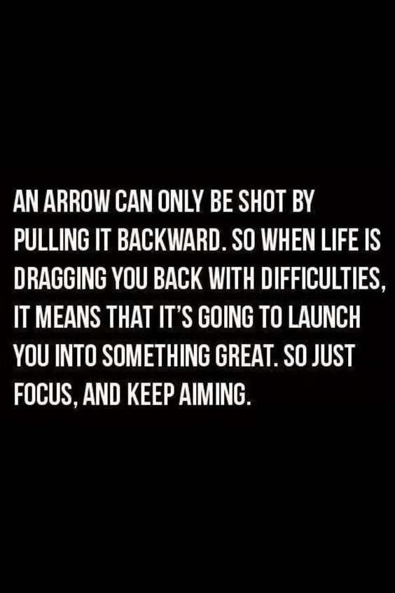 Focus and keep aiming.: