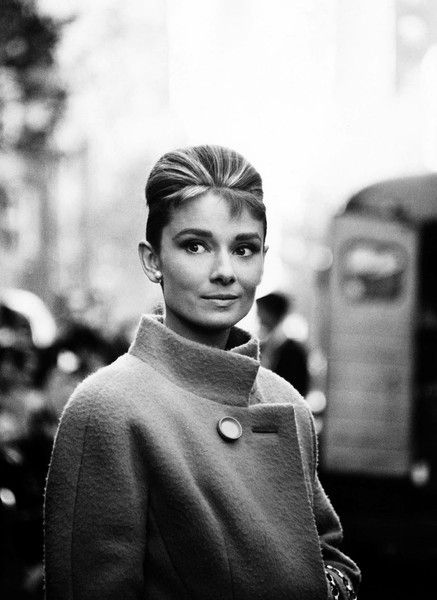 saw Breakfast at Tiffany's for the 1st time Saturday May 19th, 2012...I am officially an Audrey fan....had to repin this :)__Audrey Hepburn coat