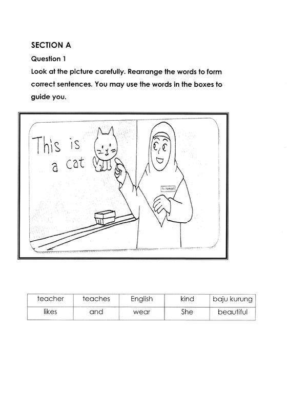 Soalan English Bi Bahasa Inggeris Tahun 2 Paper 2 English Exam Papers English Writing Skills English Writing