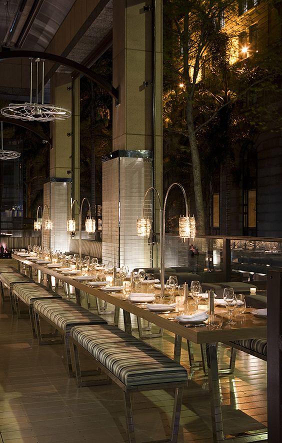 communal table   at steel bar & grill   sydney, australia