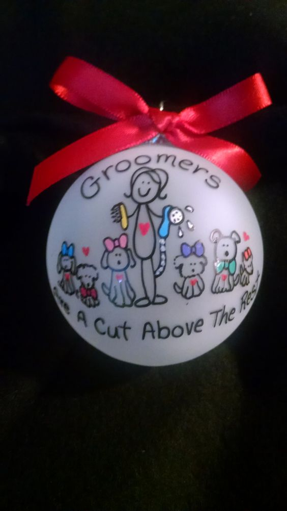 Christmas ornaments,custom personalized ornament,groomer ornament,pet groomer…
