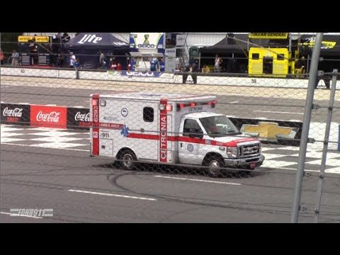 Cetronia Ems Ambulance 6293 On Track At Pocono Raceway Cetroniaems Pocono Poconoraceway Ems Nascar Emt Param Ems Ambulance Ambulance Emergency Vehicles