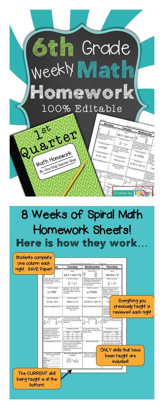 Math homework help 6th grade