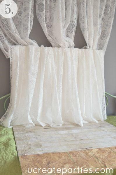 DIY Photo Shoot Sheer Curtains | Mini session | Pinterest ...