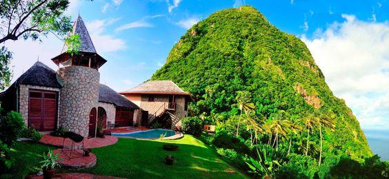 Montañas Piton, Santa Lucia, Caribe.
