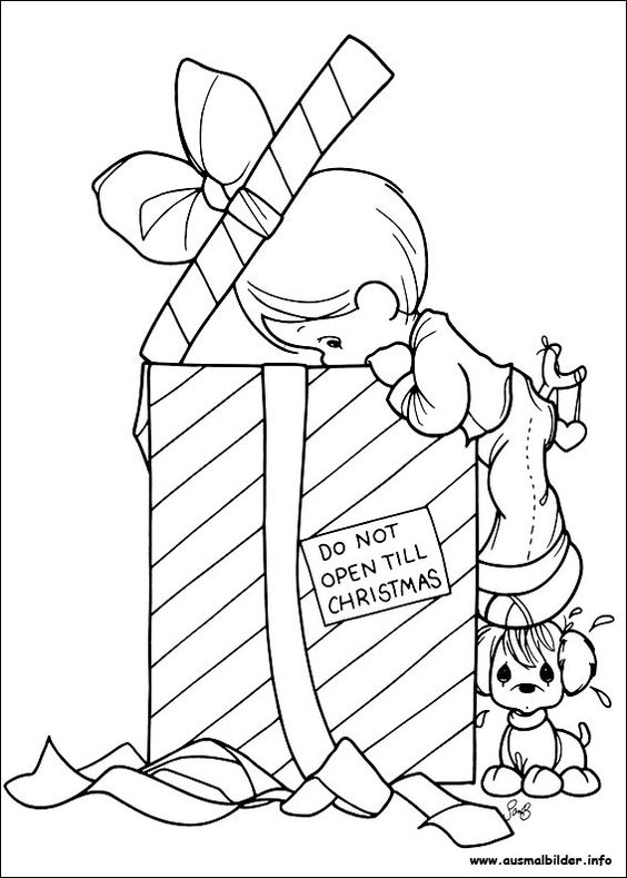 christmas precious moment coloring pages - photo#19