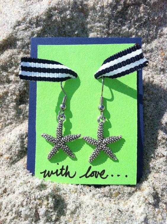 Starfish Earrings. $6.00, via Etsy.