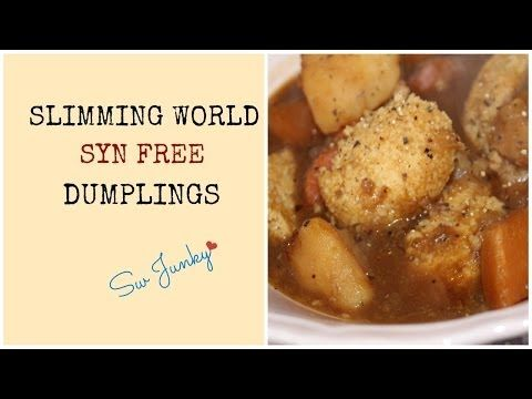 Slimming World (Syn Free) Dumplings Recipe - YouTube ...